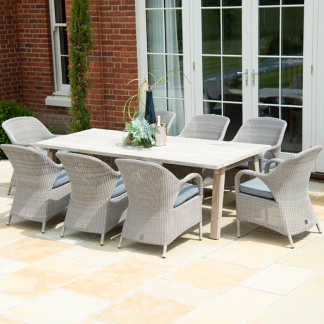 8 Seat Dining Set - Derby Table & Sussex Armchairs