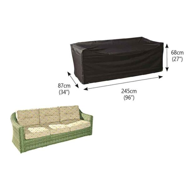 Dimensions for Bosmere Protector 6000 (Modular) 3 Seater Sofa Cover in Storm Black