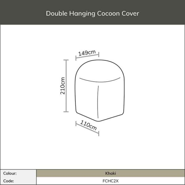 Dimensions for Bramblecrest Double Cocoon Cover in Khaki