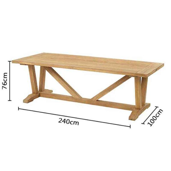 Dimensions for Bramblecrest Kuta Vintage Teak Table