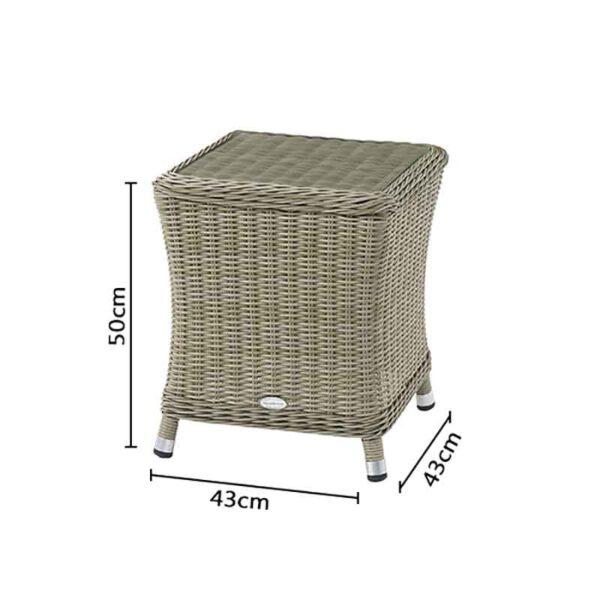 Dimensions for Bramblecrest Monte Carlo Side Table