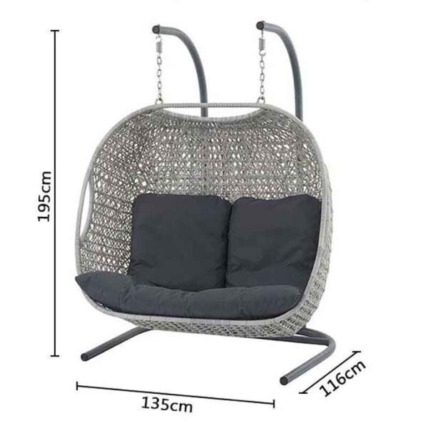 Dimensions for Bramblecrest Monterey Double Hanging Cocoon