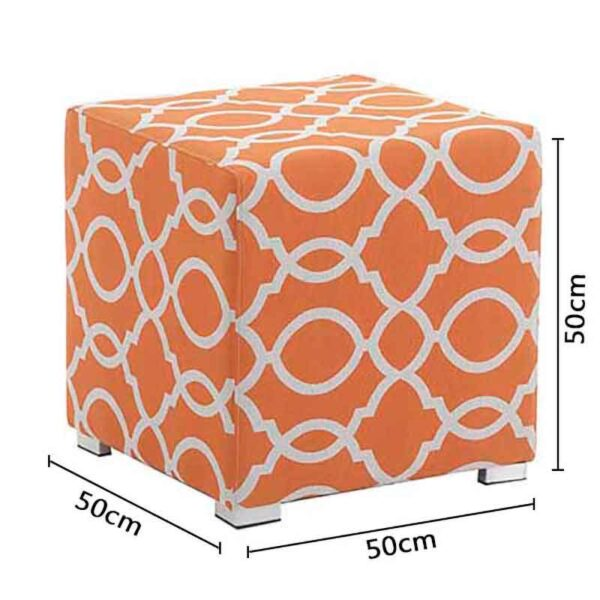 Dimensions for Bramblecrest Outdoor Cubic Stool Tuscan Orange