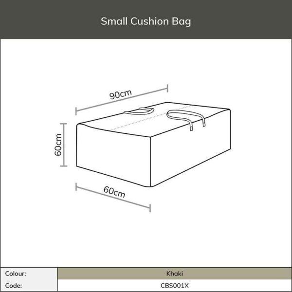 Dimensions for Bramblecrest Small Cushion Storage Bag in Khaki
