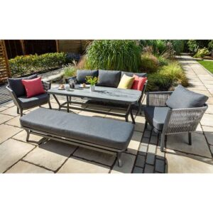 Dubai 3 Seat Casual Lounge & Bench Set