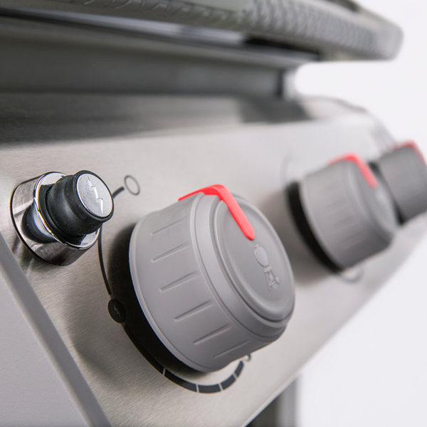 Cooking controls on the Weber Spirit II E-320 Gourmet BBQ System Gas Barbecue