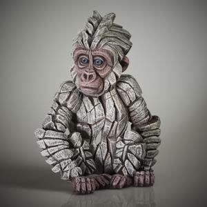 Edge Sculpture Baby Gorilla - Snowflake