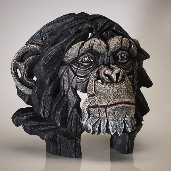 Edge Sculpture Chimpanzee Bust Side 2