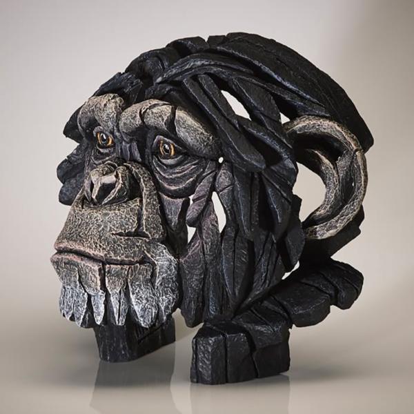 Edge Sculpture Chimpanzee Bust Side