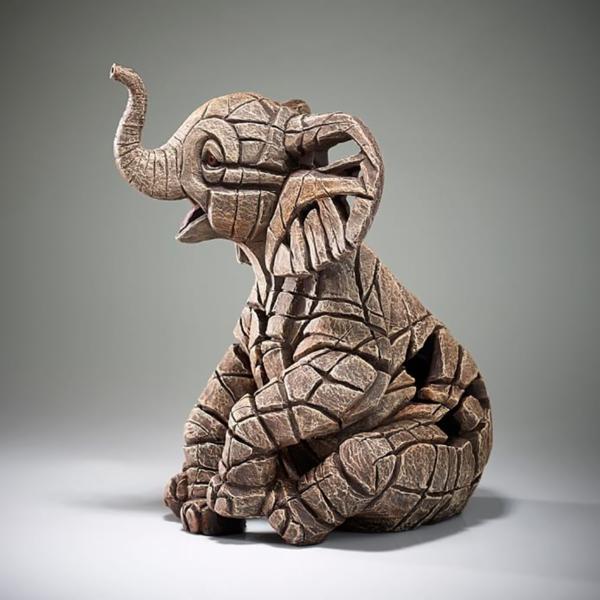 Edge Sculpture Elephant Calf Side