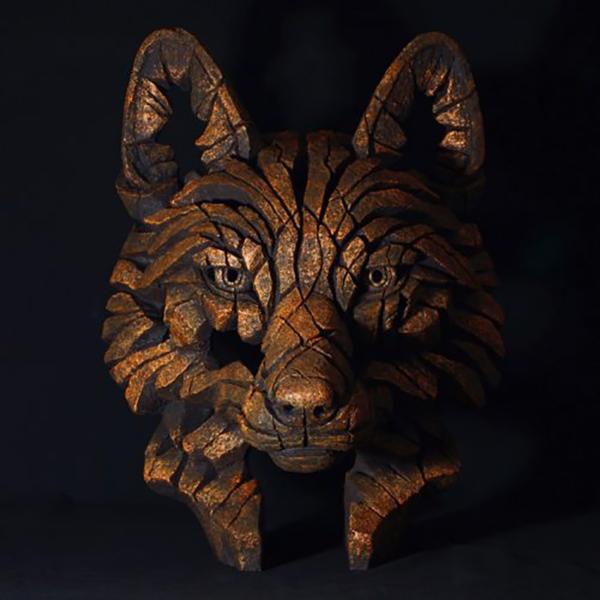 Edge Sculpture Fox Bust Fusion Copper Blaze