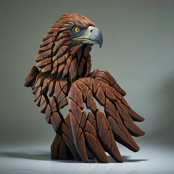 Edge Sculpture Golden Eagle Bust Side
