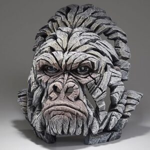 Edge Sculpture Gorilla Bust - White EDB05W