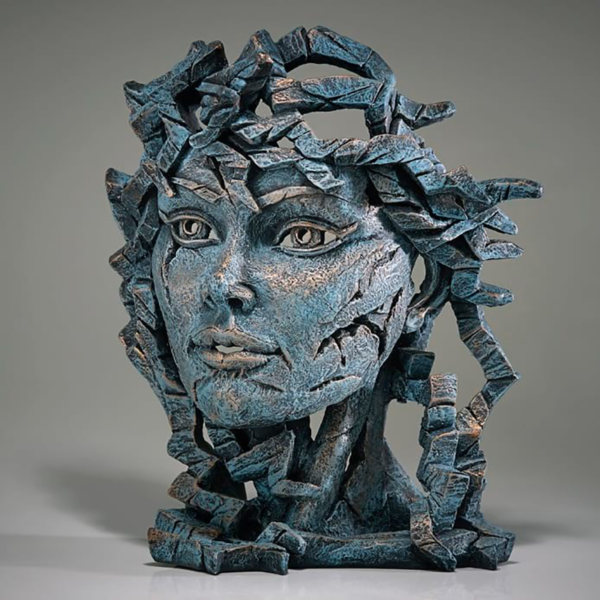 Edge Sculpture Venus Bust - Teal Side