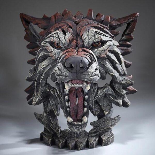 Edge Sculpture Wolf Bust- Timber EDB04