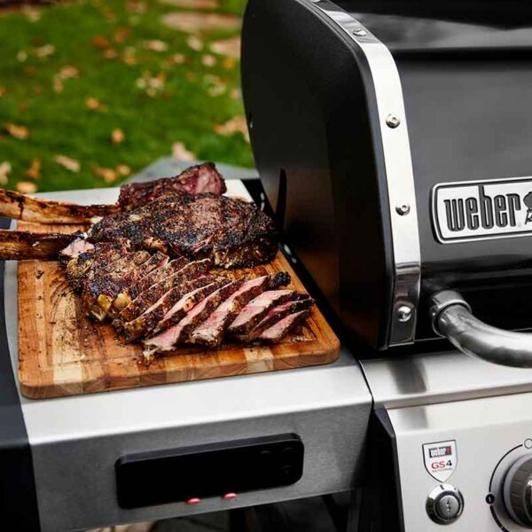 Enjoy perfectly cooked food with the Weber Genesis II EX-335 GBS Gas BBQ