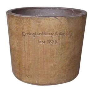 Errington Reay Courtyard Round Planter in Old Leather
