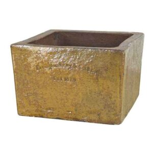 Errington Reay Courtyard Square Planter in Old Leather