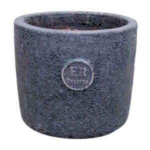 Errington Reay Elementals Round Planter in Lava Graphite