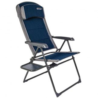 Quest Ragley Pro Recline Chair in Blue with Side Table