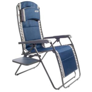 Quest Ragley Pro Relaxer Chair in Blue with Side Table