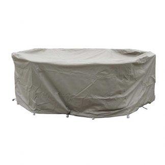 Bramblecrest Cover in Khaki for 175 x 120cm Elliptical Table Set