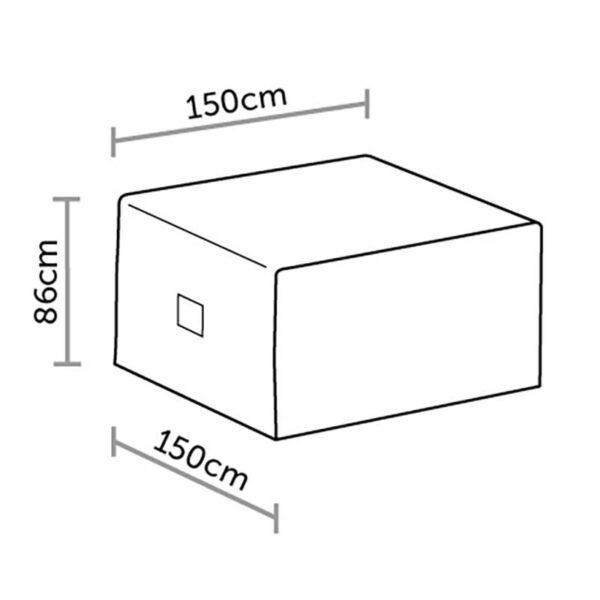 Bramblecrest 2 Seat Sofa Set Cover in Khaki Dimensions