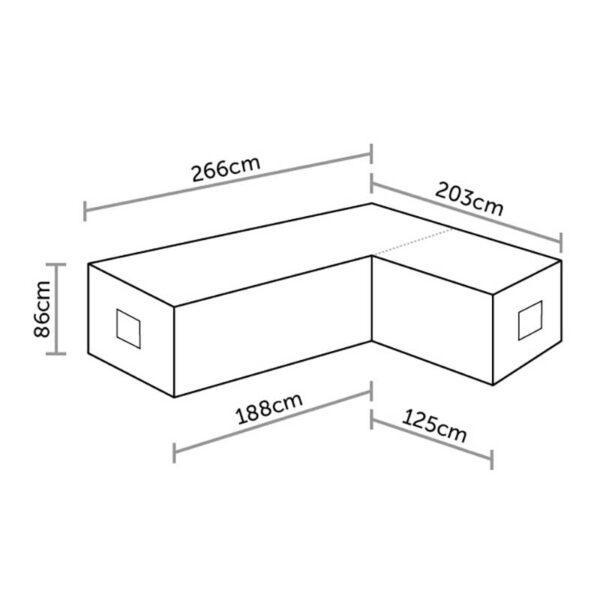 Bramblecrest L-Shape Sofa Cover - Long Left Dimensions