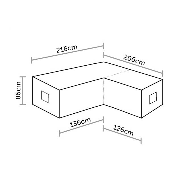 Bramblecrest Mini Sofa Cover in Khaki Dimensions