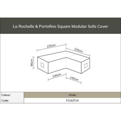 Footprint for Bramblecrest La Rochelle & Portofino Square Modular Sofa Cover (Khaki)