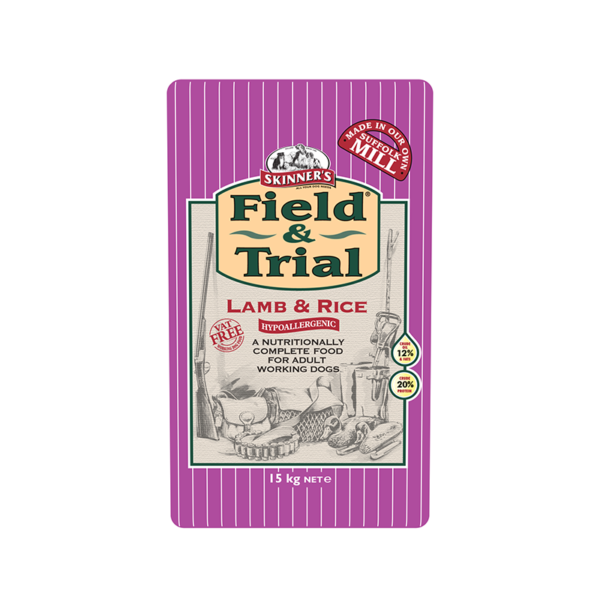 Skinner's Pet Food Field & Trial Lamb & Rice - Hypoallergenic for Adult Working Dogs (15kg)
