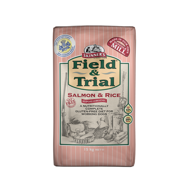 Skinner's Pet Food Field & Trial Salmon & Rice - Hypoallergenic for Working Dogs (15kg)