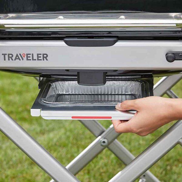 Fat Pan Catcher on Weber Traveler
