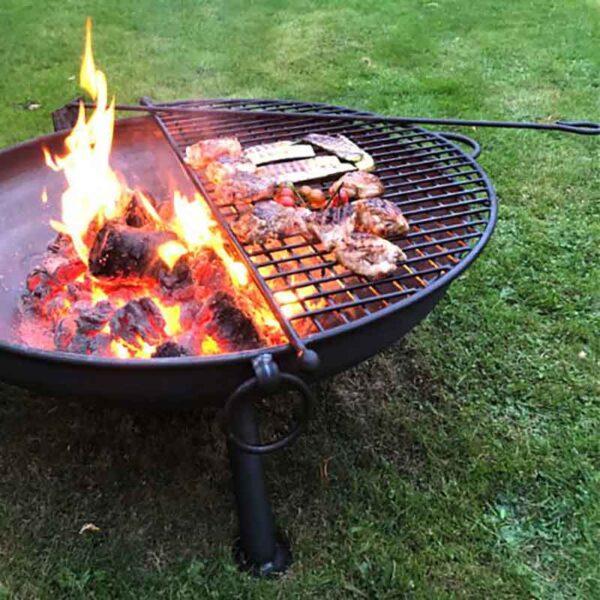 Firepits UK Ash Rake in use