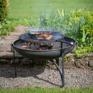 Firepits UK Plain Jane with Swing Arm BBQ Rack