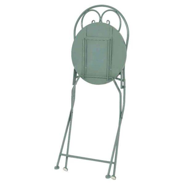 Foldaway Cancun Iron Bistro Chair