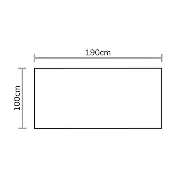 Footprint for Bramblecrest Chedworth Large Cushion Storage Box in Sandstone