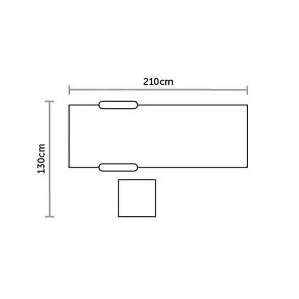 Footprint for Bramblecrest Monte Carlo Sun Lounger & Side Table