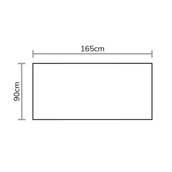 Footprint for Chedworth Standard Cushion Storage Box in Sandstone