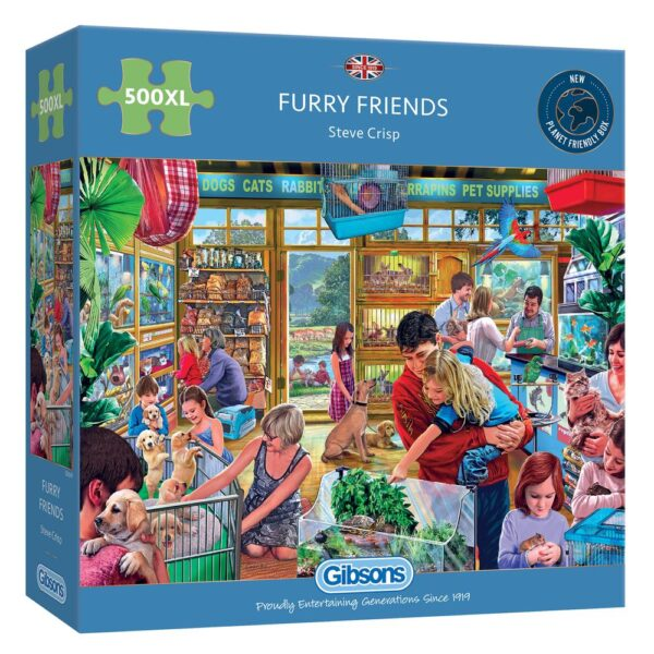 Gibsons Furry Friends 500XL Piece Jigsaw Puzzle