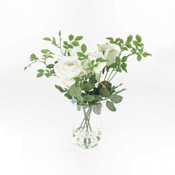 Floralsilk Roses In Hurricane Vase (38cm)