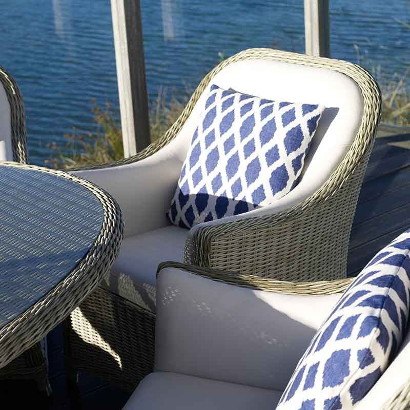 Garden Scatter Cushions complete the look