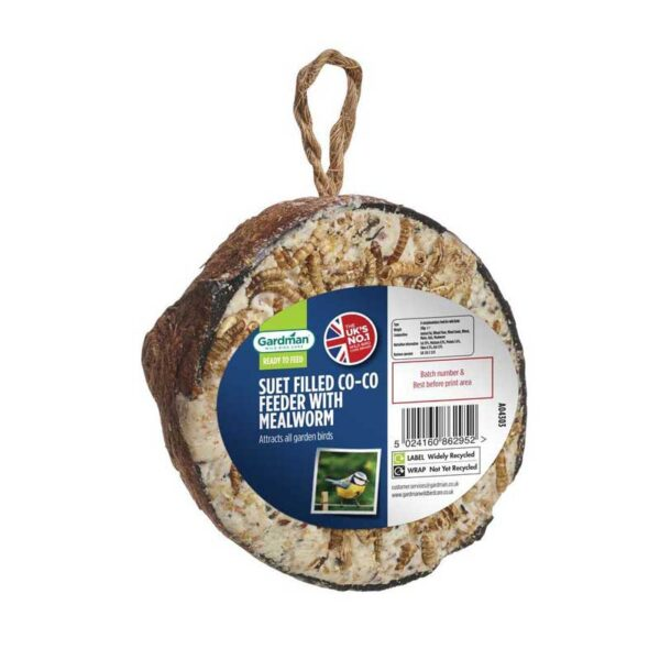 Gardman Suet Filled Co-Co Feeder with Mealworm