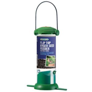 Gardman Flip Top Nyger Seed Feeder for Wild Birds