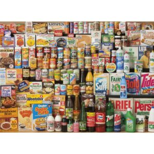Gibsons 1980s Shopping Basket 1000 Piece Jigsaw