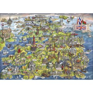 Gibsons Beautiful Britain 1000 Piece Jigsaw