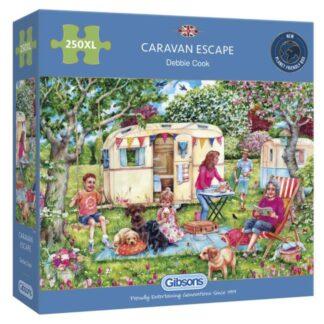 Gibsons Caravan Escape 250XL Jigsaw Puzzle Box