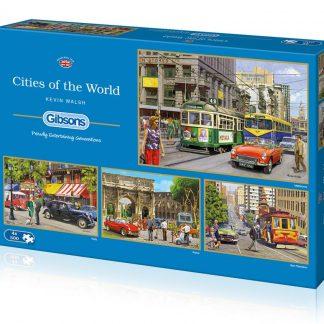 Gibsons Cities Of The World 4 x 500 Piece Jigsaws