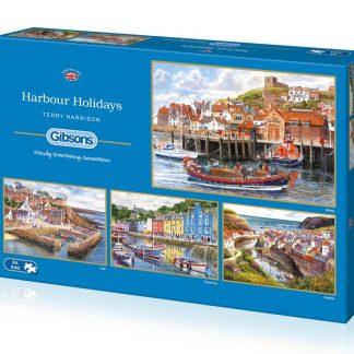 Gibsons Harbour Holidays 4 x 500 Piece Jigsaws