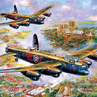 Gibsons Lancasters Over Lincoln 500 Piece Jigsaw